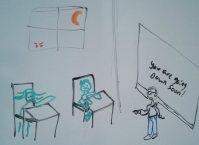 Sinking Down haunted classroom
