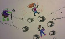 Skye walks the fairy circle in Blue Spirit