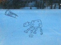 Looks like Hoth outside...