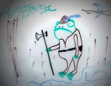 Frogman Guard from Blue Spirit